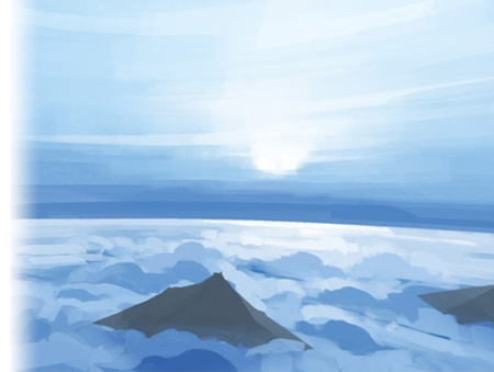 Painted Skybox Above the clouds (with and without mountains)
