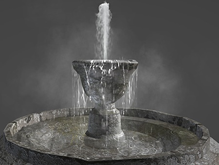 Realistic Water Fountain